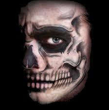 studio f x skull face temporary face tattoo fx
