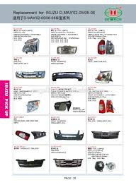 auto spare parts cars for japanese cars for isuzu dmax 2002 2005