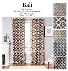 108 Inch Black And White Curtains Bali Ikat Curtain Drapery Panels Best Window Treatments 108