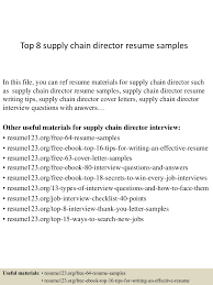Resume For Supply Chain Executive Top8supplychaindirectorresumesamples 150410084254 Conversion Gate01 Thumbnail 4 Jpg Cb U003d1428673424