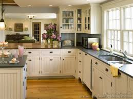 cottage style kitchens country with white beadboard kitchen