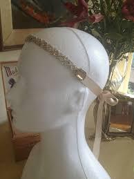 1920s hair accessories beige headband gatsby theme wedding downton