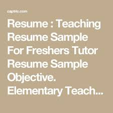 Tutor Resume Example by Find This Pin And More On Middle English Teacher Resume