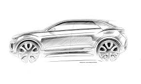 volkswagen drawing vw t roc revealed news photos specs prices by car magazine