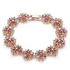 rose stone bracelet images Genuine rose jewellery 18ct rose gold plated multi coloured jpg
