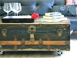 steamer trunk side table steamer trunk coffee table pottery barn steamer trunk coffee table