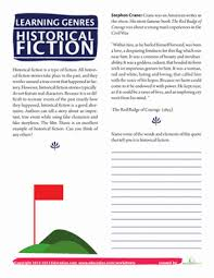 5th grade fiction reading passages what is historical fiction worksheet education