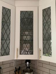 stained glass inserts for kitchen cabinet doors tudor style leaded glass kitchen cabinet inserts