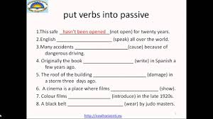 active or passive voice exercises youtube