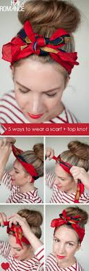 retro headbands 5 ways to wear a scarf and a top knot 4 retro bow headband