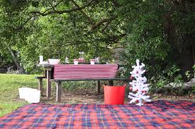 Picnic Decorations Most Beautiful Outdoor Christmas Table Setting Ideas Christmas