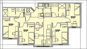 four bedroom floor plans apartment 4 bedroom thraam