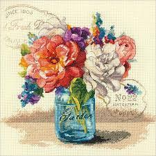 dimensions garden bouquet cross stitch kit 70 35334 123stitch