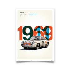 porsche poster vintage porsche 911r poster u2013 tour de france automobile automobilist