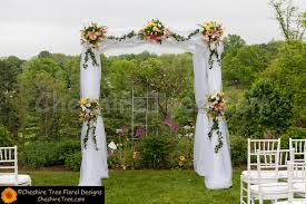 wedding arches decorated with tulle http cheshiretree fotoslide gallery designs ceremonies