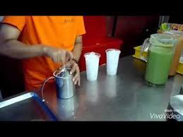 cara membuat thai tea latte green tea teh hijau original thai youtube