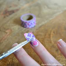 things to do with washi tape easy washi tape nail art 3 jpg