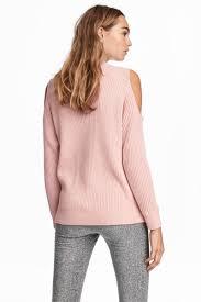 open shoulder sweater open shoulder sweater powder pink sale h m us