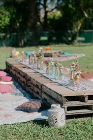 rustic outdoor picnic tables 50 romantic outdoor picnic wedding ideas picnic weddings rustic