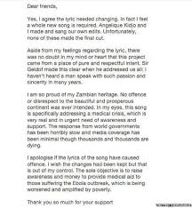 New Lyrics Emeli Sande A Whole New Band Aid Song Is Needed Newsbeat