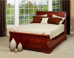 Solid Wood Sleigh Bed Cherry Solid Wood Sleigh Bed Vine Dine King Bed Solid Wood