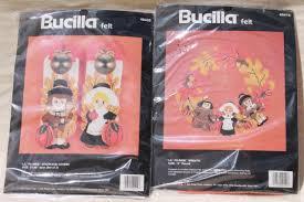 bucilla felt kits bucilla felt craft needlework kits sealed vintage thanksgiving