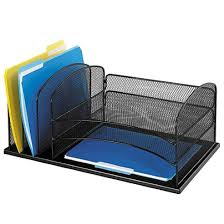 Black Mesh Desk Organizer Safco Horizontal Mesh Desk Organizer 8 14 H X 19 12 W X 11 12 D