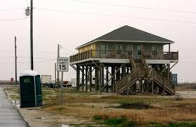 Beach House On Stilts 3 Years Ago On The Road Louisiana Gulf Coast Hwy 82