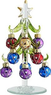 lsarts glass tree with ornament balls