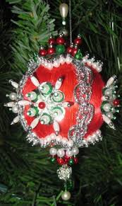 details about beaded satin christmas ornament kit white
