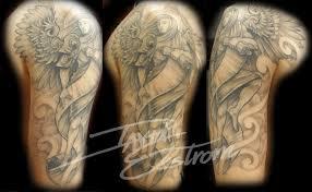 and grey sleeve tattoos skulls black hairstyle and haircuts
