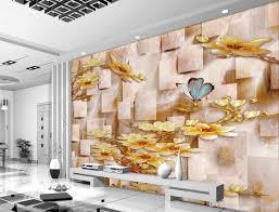 Wallpaper For Living Room Wallpaper For Walls 3 D For Living Room Plum Blossom 3d Jade