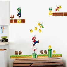 chambre mario on sale mario bros pvc removable wall sticker decal boy