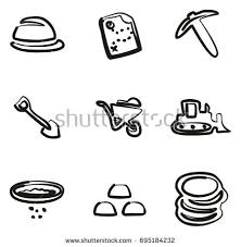 gold rush icons stock vector 174390137 shutterstock