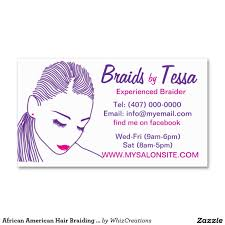african american hair braiding salon business card business