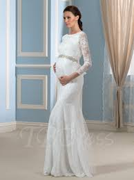 maternity wedding dresses cheap 3 4 length sleeve lace trumpet mermaid wedding dress