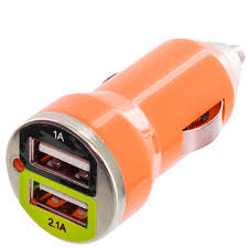 Car Phone Charger With Usb Port Color Dual 2 Port Usb Dc Car Charger 2 1 1 Amp For Cell Phones