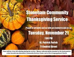 stoneham community thanksgiving service all saints episcopal church