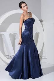 new style dark navy embroidery mermaid formal dress bridesmaid