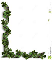 st patricks day shamrocks border royalty free stock photos image