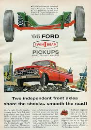 1965 ford twin i beam pickups advertisement photo picture