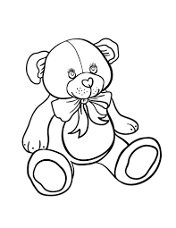 free teddy bear coloring