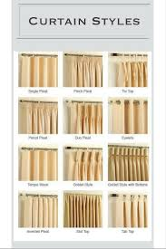 Different Drapery Pleat Styles 100 Different Curtain Styles Short Curtains Living Rm