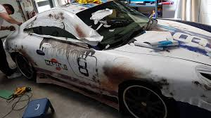 porsche wrapped porsche 911 996 martini distressed full vehicle wrap wraps