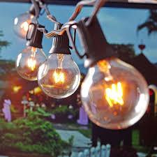 Vintage Patio Lights Patio Lights G40 Globe String Light Warm White