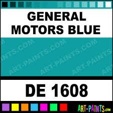 general motors blue engine enamel paints de 1608 general