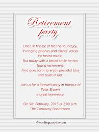 invitation greetings retirement party invitation wording ideas and sles wordings