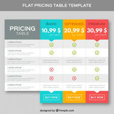 price plan design pricing tables template in flat design vector premium download
