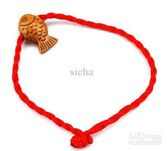 lucky red string bracelet images 2018 2 rope braided red string bracelet china wind fish good jpg