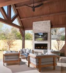 Modern Outdoor Gas Fireplace by 42
